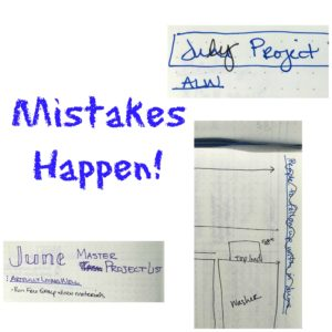 Mistakes collage