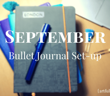 September 2017 BuJo set up blog header