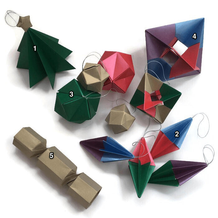christmas origami diagram 1989 harley davidson softail wiring decorations artful maths balls and baubles