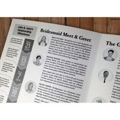 wedding day post newspaper programs artful pixels