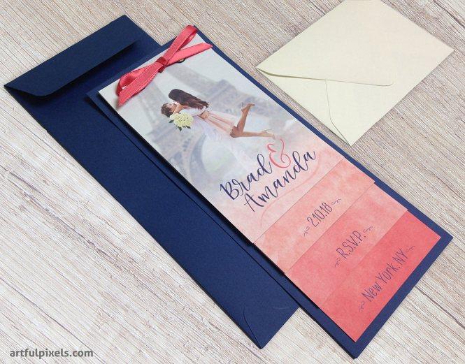 Aquarelle Booklet Invitation Suite