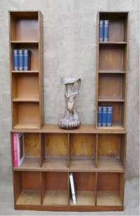 Unix modular bookcase system in oak | Latest Stock | Art ...