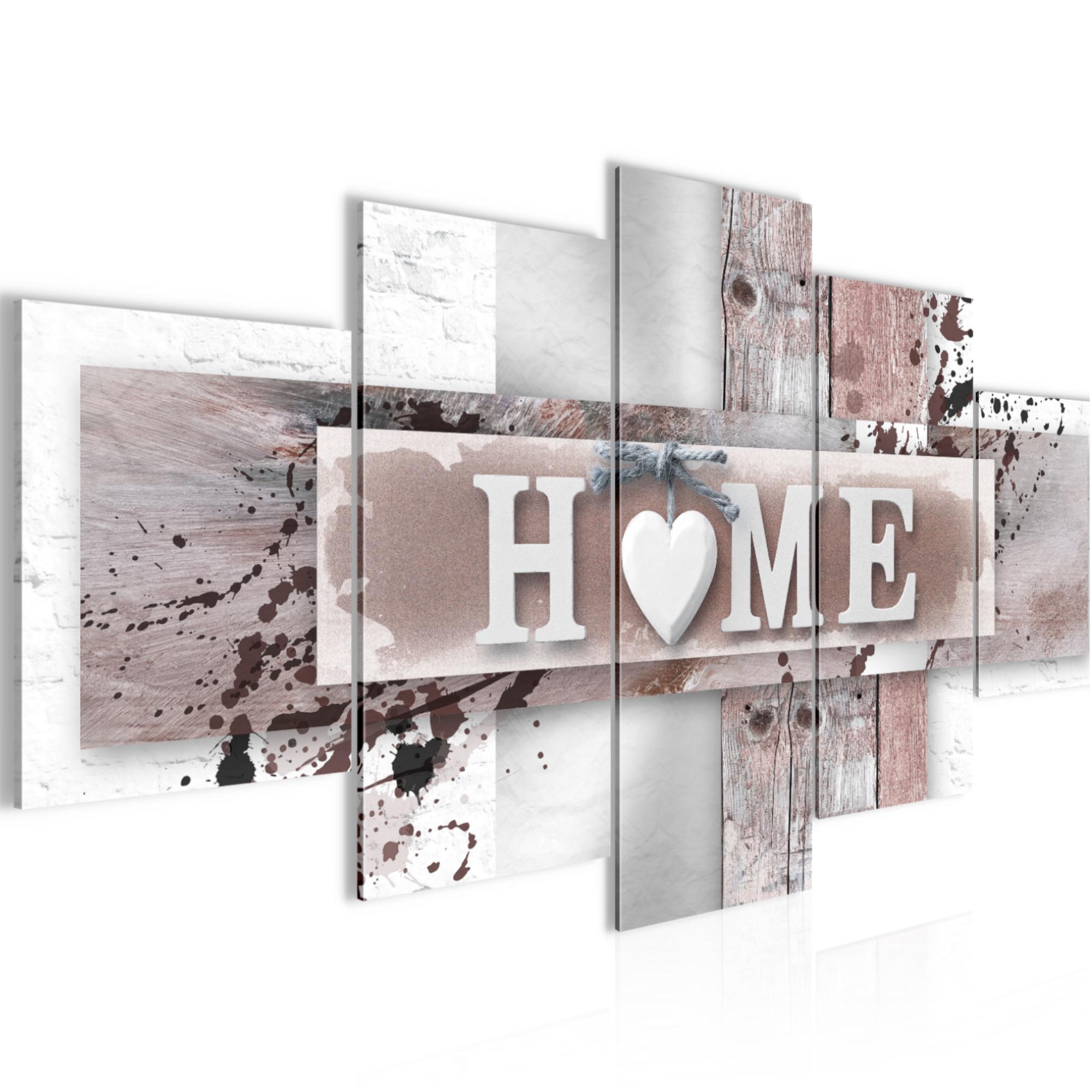 Bild Bilder Wandbild XXL  Home  Kunstdruck Leinwand aus Vlies  Wanddeko Chic  eBay