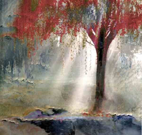 Los Angeles Contemporary Art Titled Red Tree 1 Artist