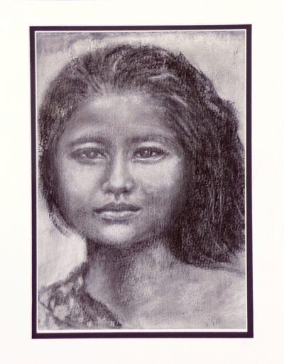 Face Portrait using Charcoal