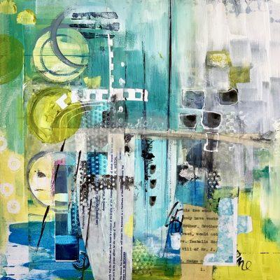 Acrylic mixed media contemporary art