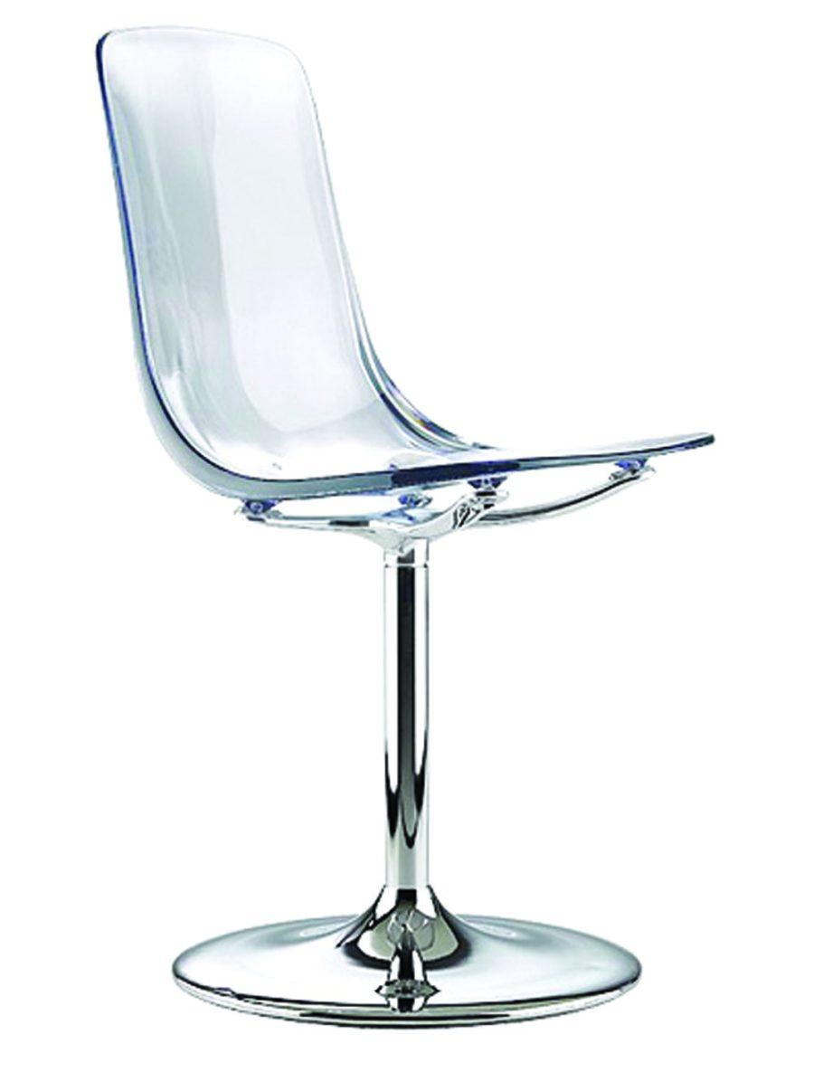 Chaise méthacrylate cristal