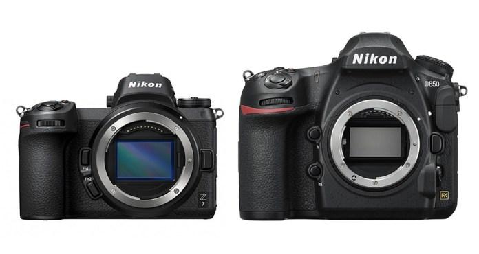 Nikon D850 ve Z7 boyutları