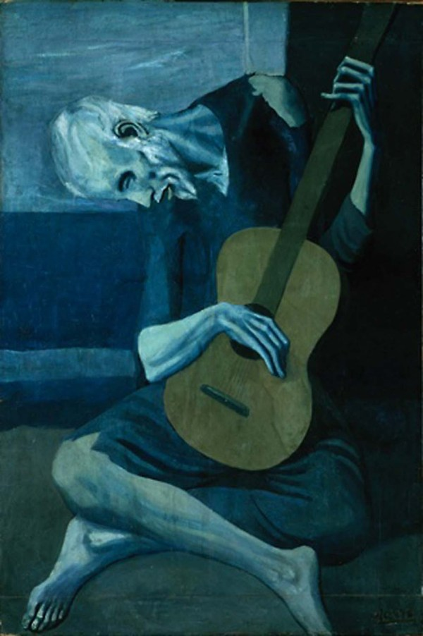 Pablo Picasso Old Guitarist Painting