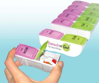 Jumbo Detach N Go Pill Box By Apex Easy To Carry Weekly