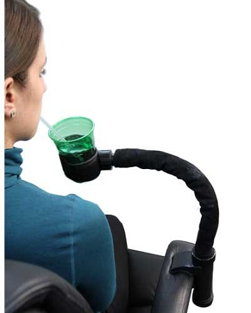 3rd Arm Cup Holder  flexible arm holds variety of