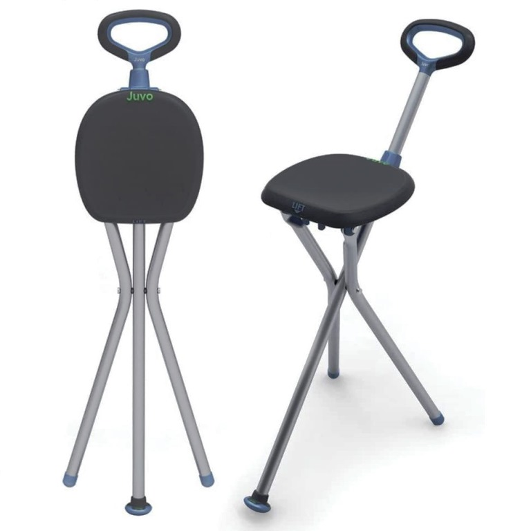 walking stick chair medical chairs for sale juvo travel cane seat unfolds into handy