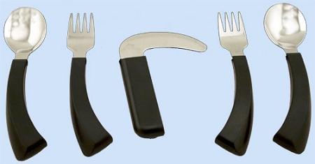 Amefa Curved Built Up Handle Utensils Curved Handle