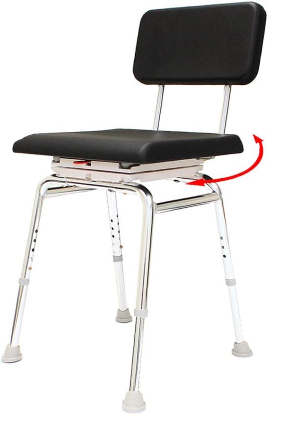 SnapNSave Swivel Padded Shower Chair  arthritis shower