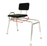 New! Sliding Transfer Bench with Padded Swivel Seat and ...