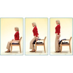 Seat Lift Chair Leather Sofa And Up Easy Lifting Cushion :: Assistive Standing Device Helps Arthritis Users Stand Independently.