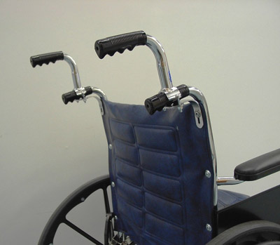 wheelchair grips grey and white dining chairs wheelchairpush handle extensions :: increase hand grip height