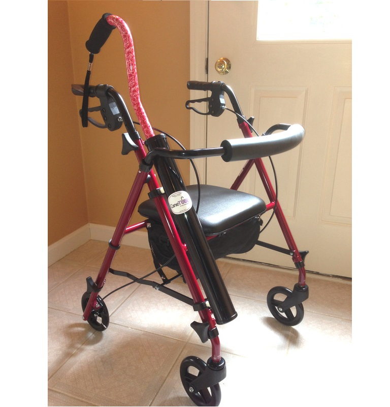 swivel shower chair womb and ottoman canetube walking cane holder : for walkers, rollators