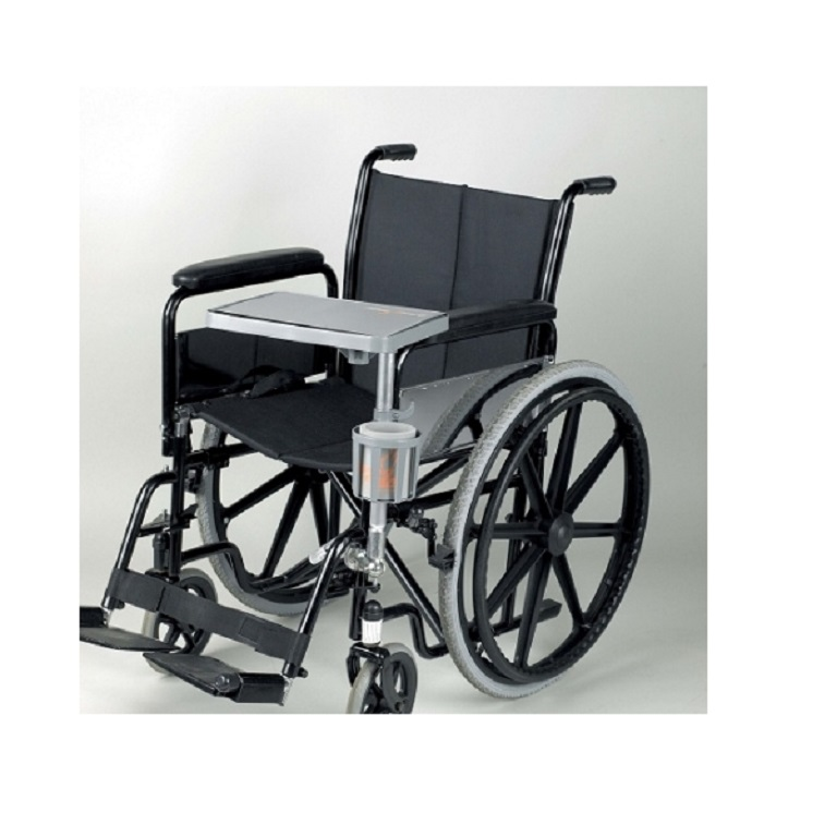hook on chair wrought iron barrel outdoor cushions livingeazy enabler wheelchair table : portable with cup holder.