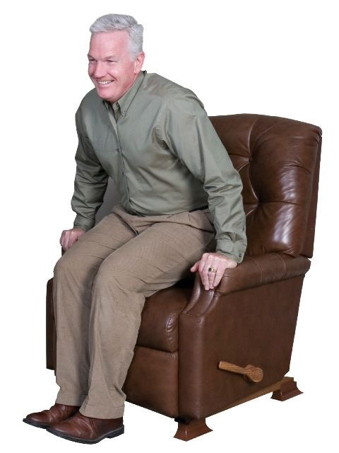 rocking reclining chair best posture for lower back pain recliner riser by stander raises seat height