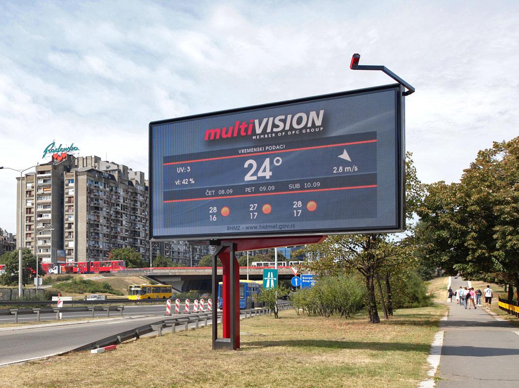 Single Sided LED Digital Billboard 6x3m Panel Size  ARTHS Studio ubra