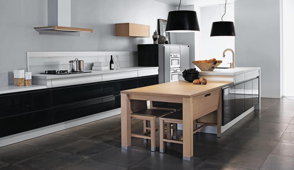 Une cuisine noire et conviviale Rendezvous par Thibault