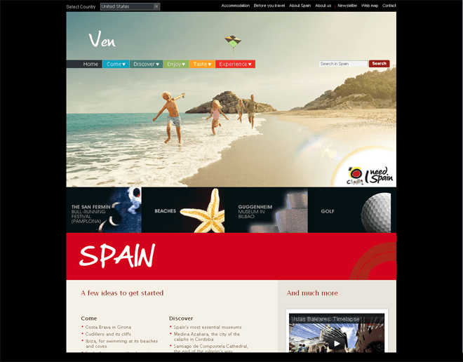 Spain Official International Tourism Websites