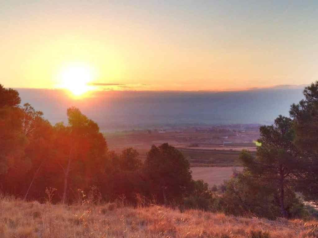photo of sunrise from my secret meditation spot