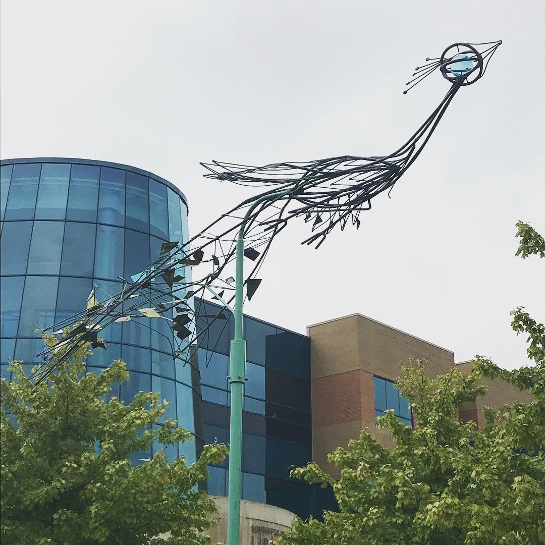 Arthur Kraft, Artist, Kansas City, Sculpture, Peacock, Peacock Terrace, Northland Shopping Center, Michigan, Southfield Public Library, Southfield Public Arts Commission