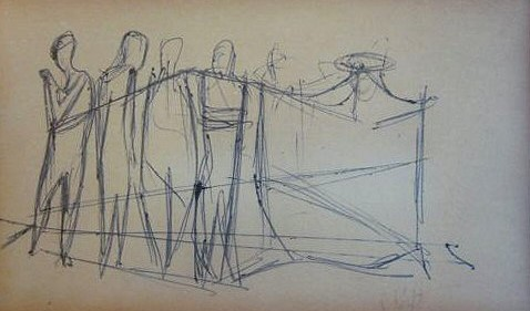 Arthur Kraft, Artist, Kansas City, Sketch, Drawing, Pen, Pencil