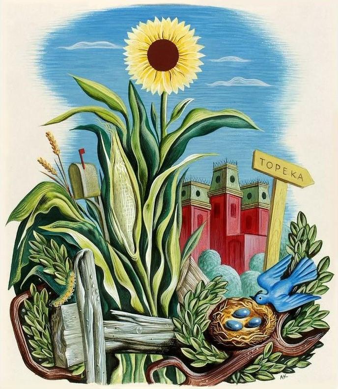 Arthur Kraft, Artist, Kansas City, Painting, Illustriation, Smithsonian, Container Corporation of America