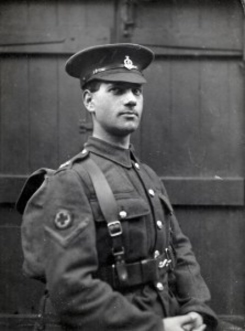 Ernie Linfoot in Arthur Linfoot's Uniform