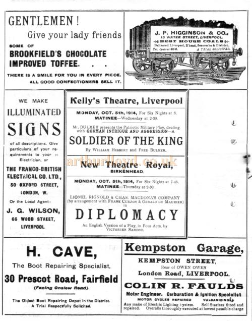 Four Early Programmes for the Shakespeare Theatre, Liverpool