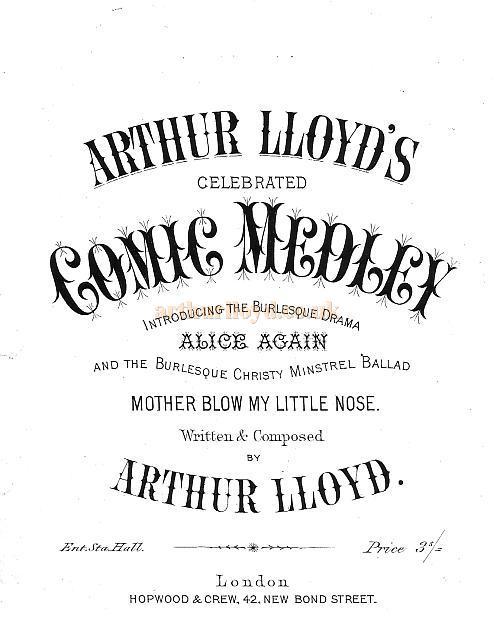 Arthur Lloyd's Celebrated 'Comic Medley'