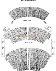 seating plan for the victoria palace theatre also street london rh arthurlloyd