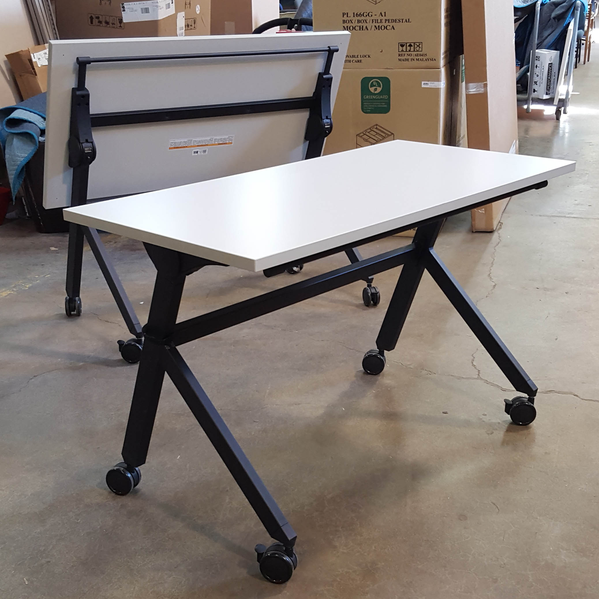 4 Training tables with flip base by Basyx  Arthur P OHara