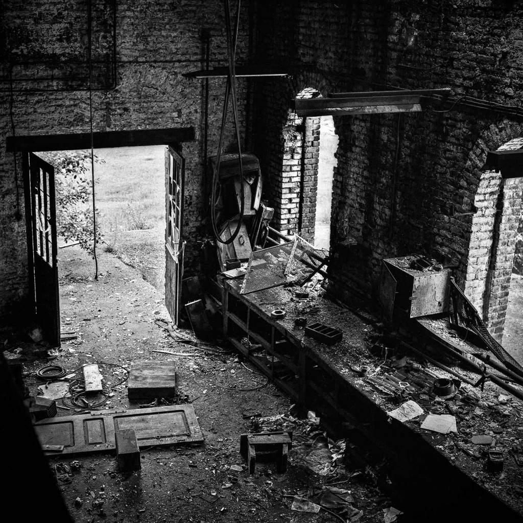 photographe reportage urbex : uziness - anderlues interieur