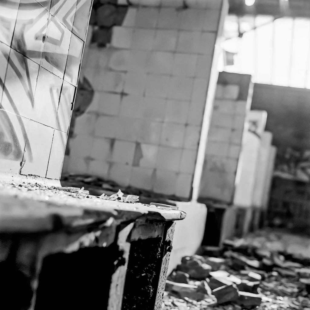 photographe reportage urbex : uziness - cheratte douche