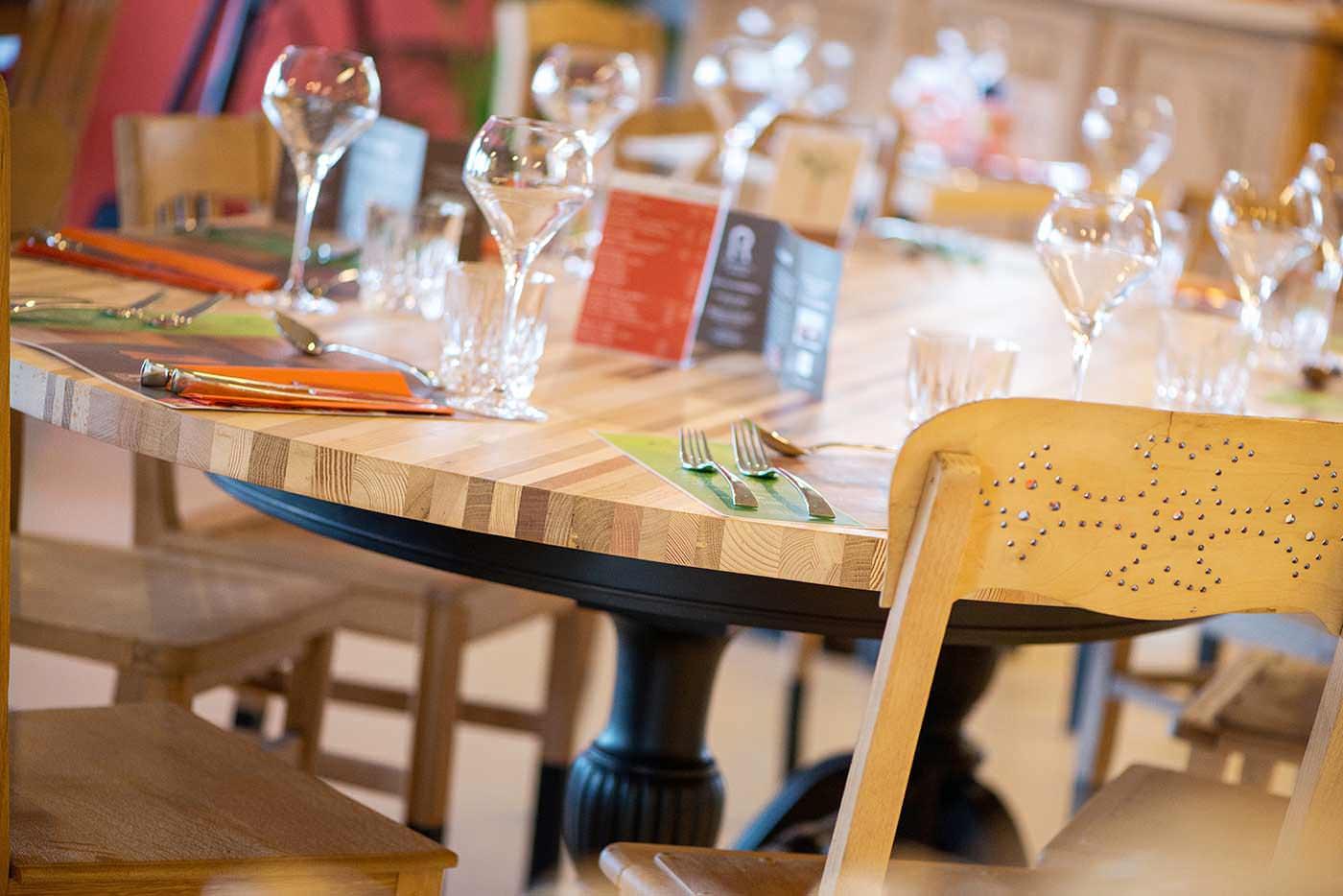 reportage photo au restaurant inspiration locale : table