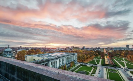 photographe professionnel à bruxelles - panorama sur le cinquantenaire