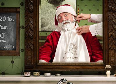 Photographe publicitaire : Visuel portrait de noel pour bayer & bayer à bruxelles