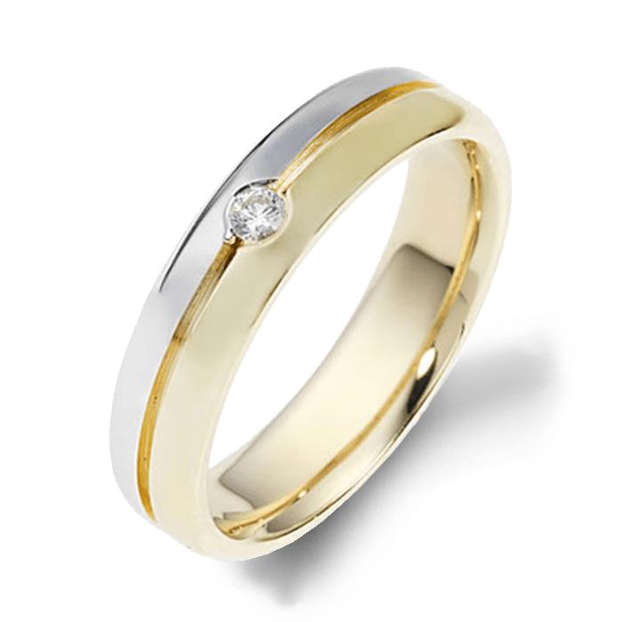Dora Diamond Yellow Gold Mens Wedding bands. Designer