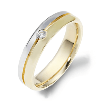 Dora Diamond Yellow Gold Mens Wedding bands. Designer