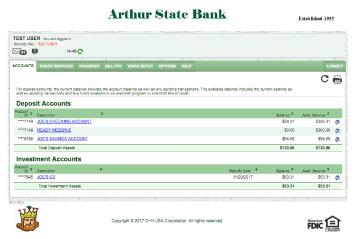 Online Banking Arthur State Bank