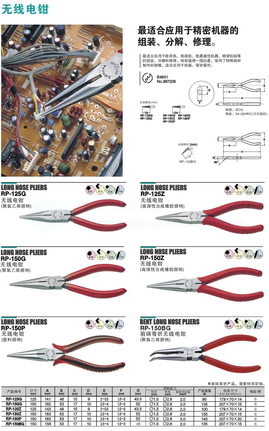 尖咀鉗系列 - 雅廸行貿易有限公司 Artic International Trading Limited 雅廸行貿易有限公司