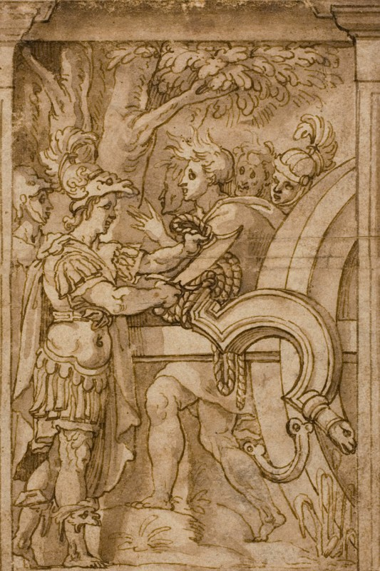 Alexander Cutting Gordian Knot Art Institute Of