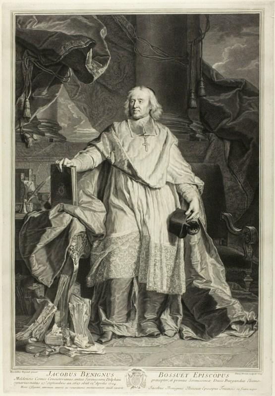 Portrait Of Jacques Nigne Bossuet Bishop Meaux