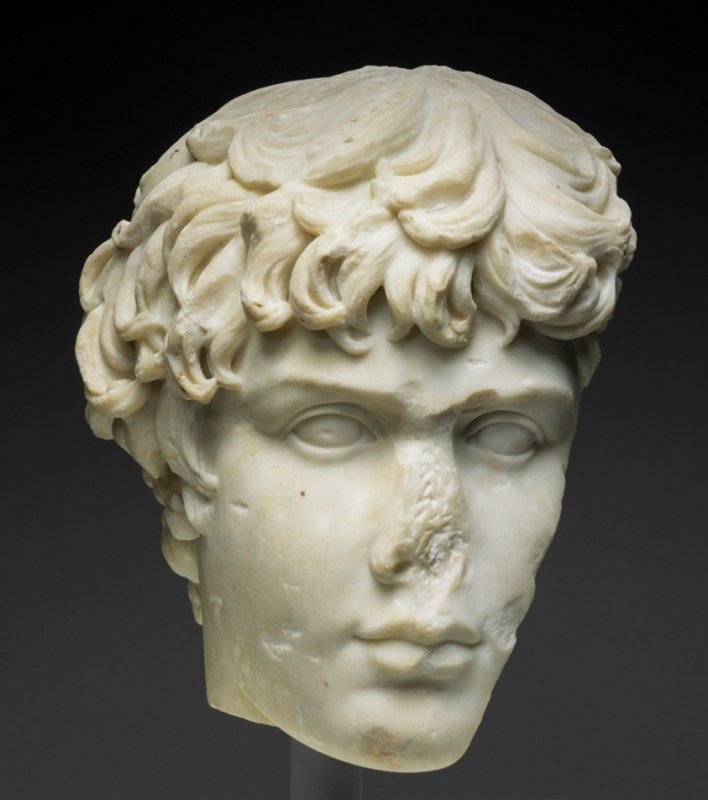Fragment Of Portrait Head Antinous Art