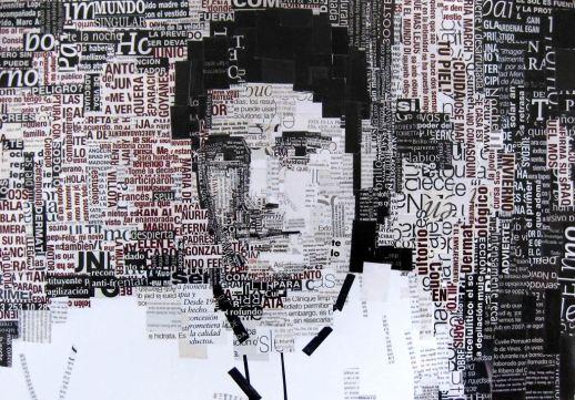 """""""Mario"""". Jesús F. Navarro. Collage Tipográfico sobre papel"""
