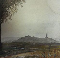 """Cerro"". Isabel Sánchez Anguita. Acuarela sobre papel"